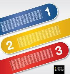 Three labels banners vector