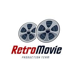 Retro movie logo vector