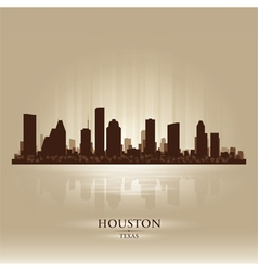 Houston texas skyline city silhouette vector