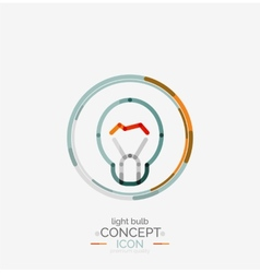 Light bulb minimal design logo vector