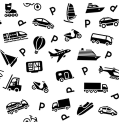 Seamless transport icons vector