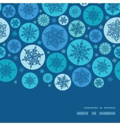 Round snowflakes christmas snowflake silhouette vector