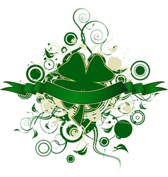Four leaf clover design vector