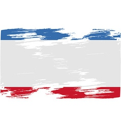 Flag of crimea with old texture vector