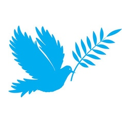 Bird dove of peace vector