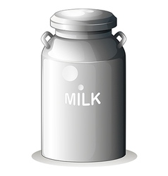 A canned fresh milk vector