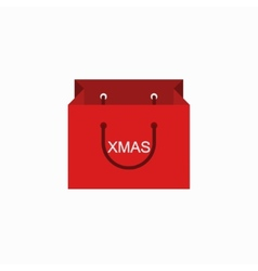 Modern shopping xmas icon on white vector