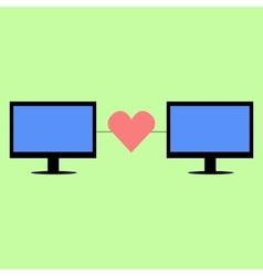 Flat style virtual love vector