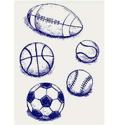 Balls for sports vector