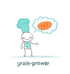 Grain grower is on bread vector