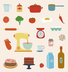 Cooking set vector