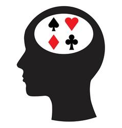 Man and thinking and gambling vector