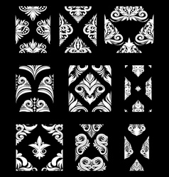 Ornamental pattern set vector
