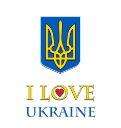 I love ukraine stylish vector