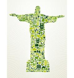 Brazil go green concept vector