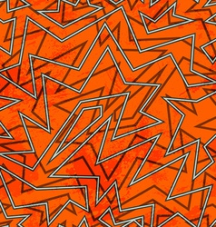 Abstract orange retro seamless pattern vector