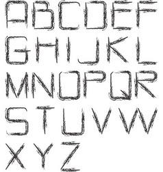 Charcoal alphabet vector