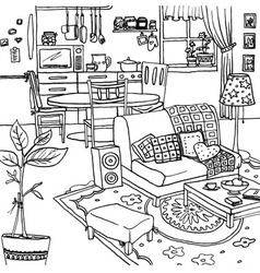 Cartoon of apartment vector