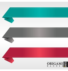 Origami ribbon banners vector