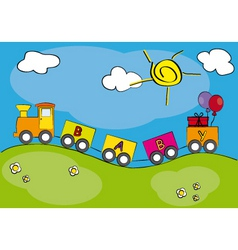 Children railway vector