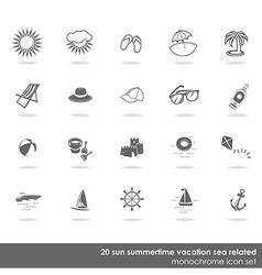 Summer swimming icons vector