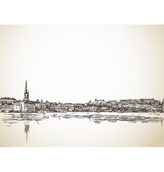 Skyline sketch of stockholm vector