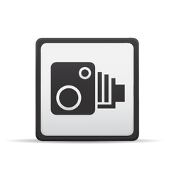Speed camera icon vector
