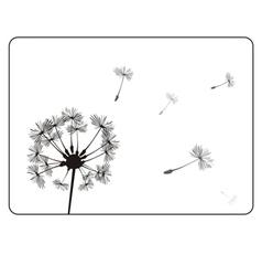 Retro dandelion silhouette vector
