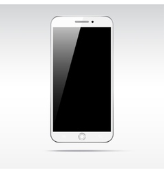 Modern touchscreen smartphone isolated on light vector
