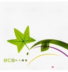 Green eco nature minimal floral concept vector