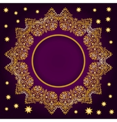 Royal luxury ornamental golden frame vector