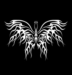 Flaming butterfly vector