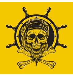 A pirate skull vector
