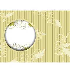 Acorn floral design vector