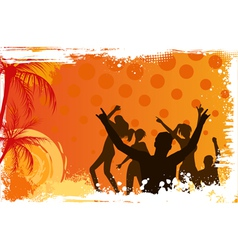 Background with dancing people vector