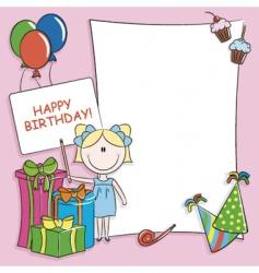 Birthday greeting card vector