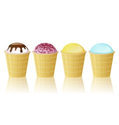 Cones ice cream vector