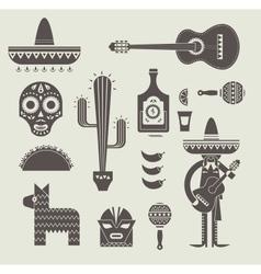 Mexico icons vector