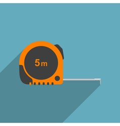 Flat measure tape vector