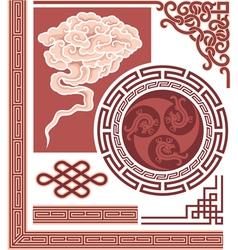 Set of oriental design elements vector