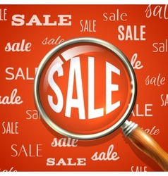 Magnifier and sale vector