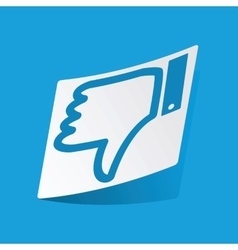 Dislike sticker vector