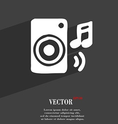 Music column disco music melody speaker icon vector