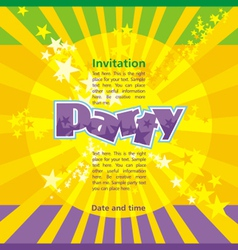Party invitation template vector