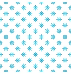 Seamless sea pattern with hand wheels vector