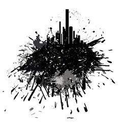 Grunge city skyscrapers vector