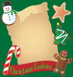 Christmas cookie recipe or invitation vector