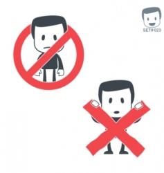 Ban icon vector