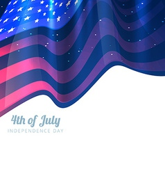 Stylish 4th of july background vector