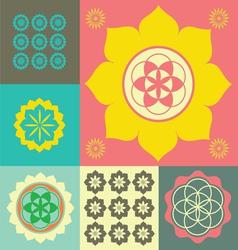 Life flower ornament vector